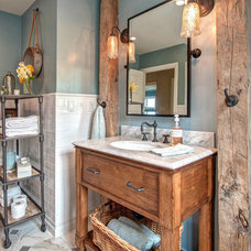 Beach Style Bathroom by Hamilton-Gray Design, Inc.