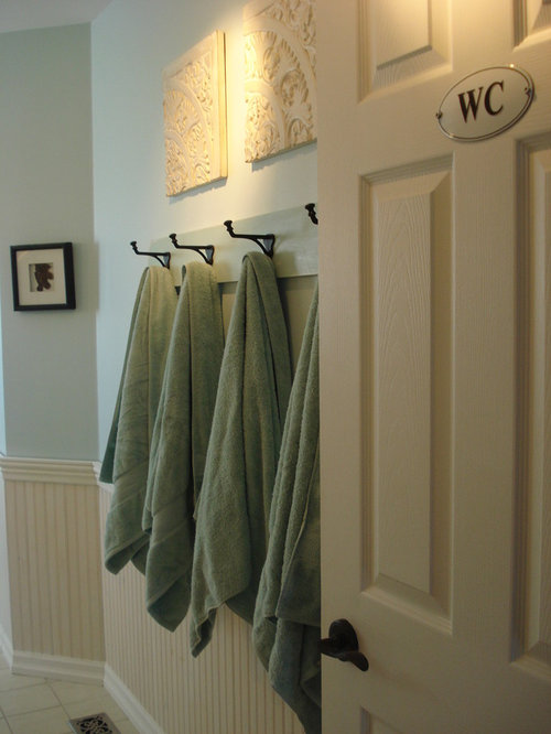 Bathroom towel hook home design ideas pictures remodel and decor for Ceramic towel hooks for bathrooms