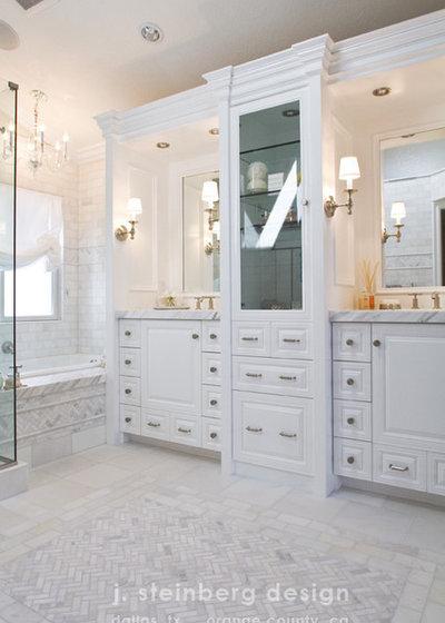 Traditional Bathroom by Janelle Steinberg Interior Design