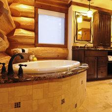 Bathroom by Mountain Log Homes & Interiors