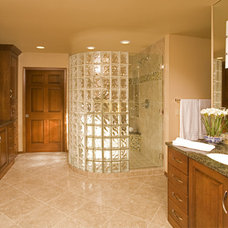 Eclectic Bathroom by Riddle Construction and Design