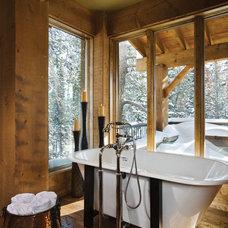 Transitional Bathroom by Abby Hetherington Interiors