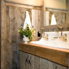 rustic bathroom by Montana Reclaimed Lumber Co.
