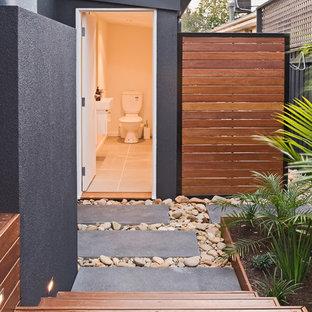 Idéer för ett stort modernt badrum