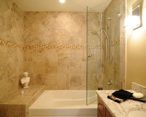 Example of a transitional bathroom design in Tampa - European Shower Door Houzz
