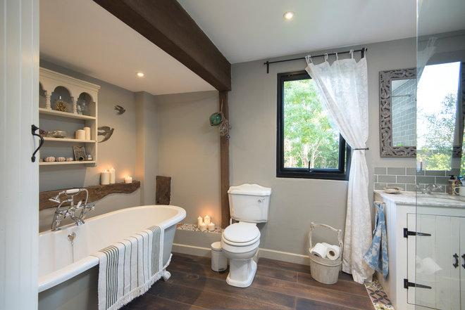 Farmhouse Bathroom by Origin - Doors and Windows