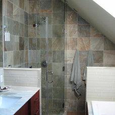 Eclectic Bathroom by Tile & Stone Design Studio