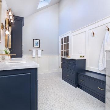 Beautiful Blue Bath Remodel