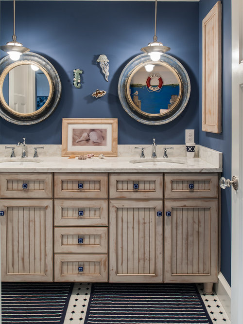 Nautical themed bathroom houzz - Nautical decor bathroom ...