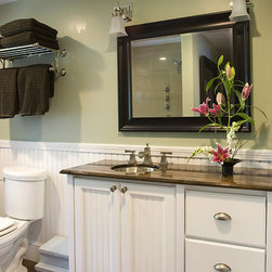 Beautiful Coastal Bathrooms - Coastal Charm small spaces big feel-Jamie Salomon