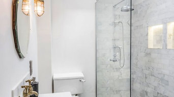 Beautiful Loft Shower Room with Copper Fittings
