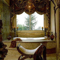 mediterranean bathroom by Maria Billingsley of J Hettinger Interiors