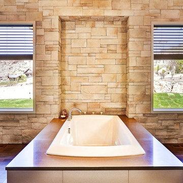 Beautiful Stone Bathroom - Coronado Stone Products