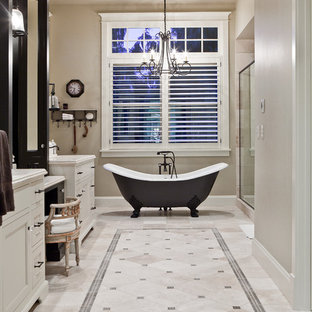 Inspiration for a timeless claw-foot bathtub remodel in Seattle