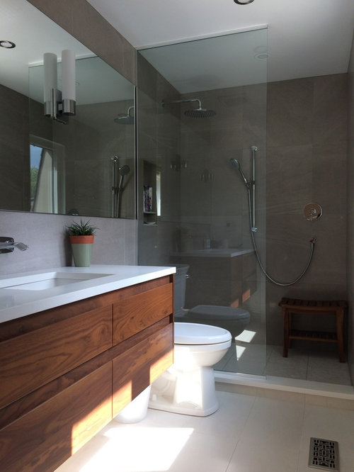 Bathroom design ideas renovations photos with quartz for Bathroom ideas 5x10