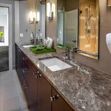Transitional Bathroom by The WhiteHouse Collection