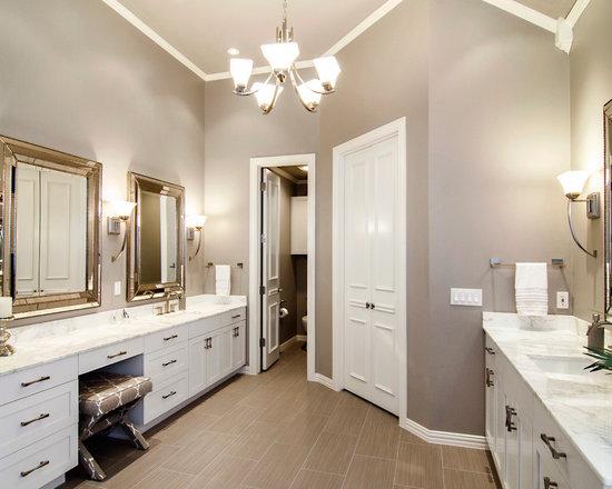 Grey And Beige Tones Bathroom Design Ideas Remodels Photos