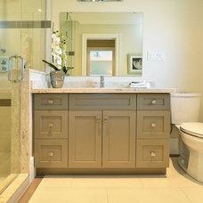 Transitional Bathroom by Kennedy Build Inc.