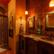 eclectic bathroom by Agave Custom Homes