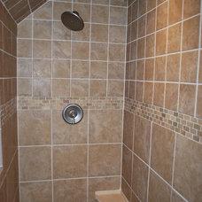 Farmhouse Bathroom by Cedar Knoll Builders