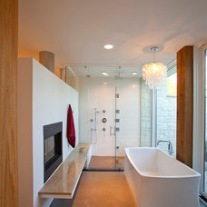 Modern Bathroom by Camery Hensley Construction, Ltd