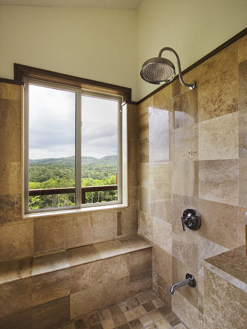 Stand up shower houzz for Standing shower bathroom ideas
