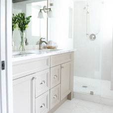 Transitional Bathroom by 2e Designs