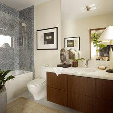 Modern Bathroom by Cecilie Starin Design Inc.