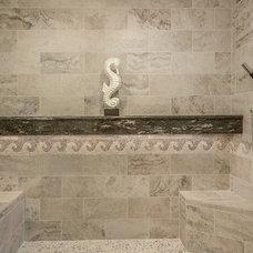 Beach Style Bathroom by Van Selow Design Build L.L.C.