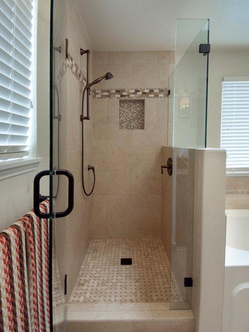 Condo Bathroom Remodel Houzz - Alcove tub shower combo