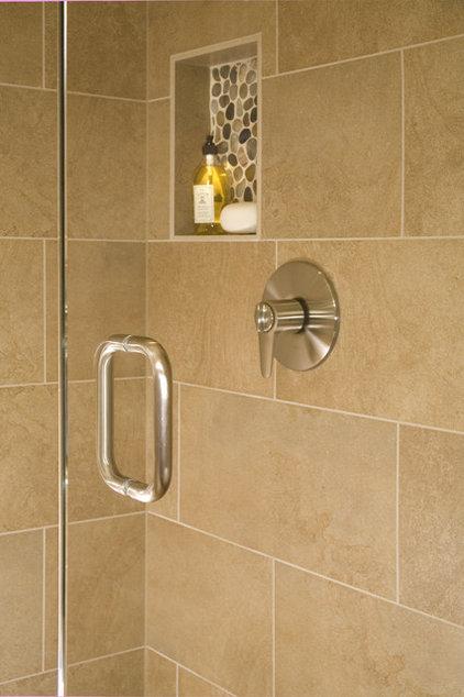 Contemporary Bathroom by Kayron Brewer, CKD, CBD / Studio K B