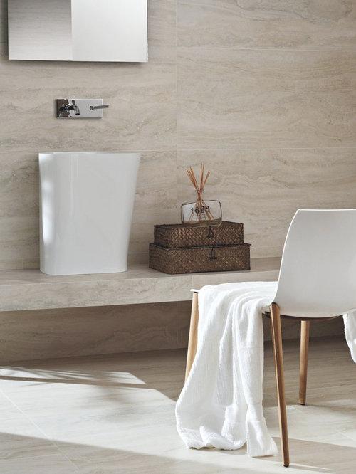 Bello Travertino Navona Bianco Porcelain Tile