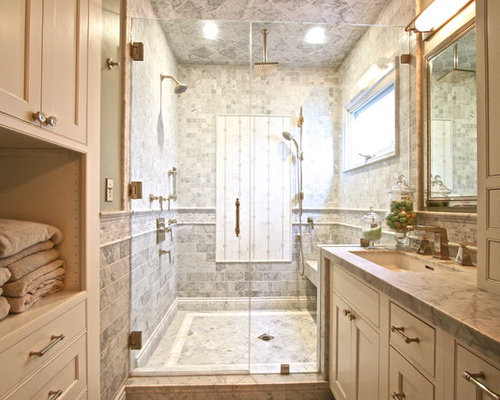 Orange County Bathroom Design Ideas Renovations Photos With Beige Cabinets
