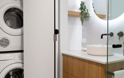 21 Cleverly Designed Laundry/Bathroom Combos