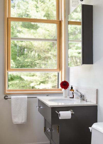 Transitional Bathroom by Caleb Johnson Studio