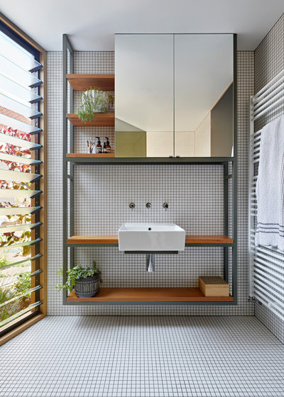Scandinavian Bathroom by BENT Architecture