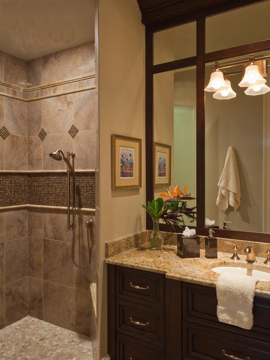 Brown Tile Shower Houzz