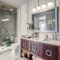Transitional Bathroom by Eric Ross Interiors, LLC