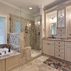 traditional bathroom by Teri Turan