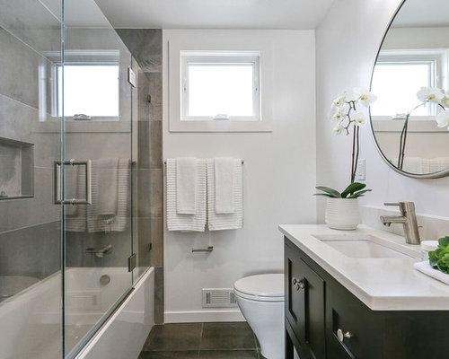 Sala Da Bagno Moderna : Stanza da bagno moderna con piastrelle in ardesia foto idee