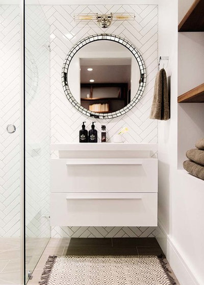Fresh Contemporary Bathroom by VIF Studio