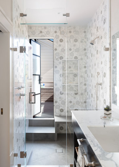 Transitional Bathroom by Gast Architects
