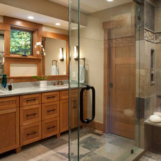 Traditional Bathroom by Living Stone Construction, Inc.
