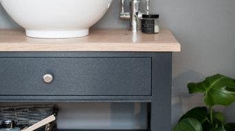 Bespoke bathroom washstand