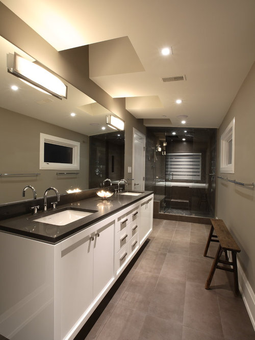Bathroom Cabinets Vancouver white bathroom cabinets with dark countertops a contemporary