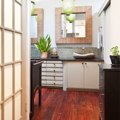 asian bathroom by Busybee Design