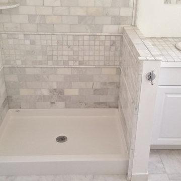 Bestbath commercial shower pan tile ready shower pan center drain shower pan