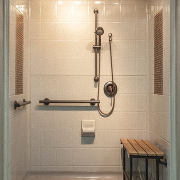 bestbath walk in shower roll-in shower handicap showers ada shower barrier free