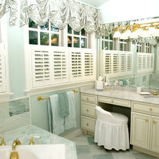 Traditional Bathroom by KC Savage Interiors