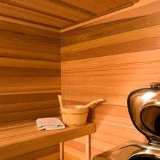 Modern Bathroom by Teakwood Builders, Inc.